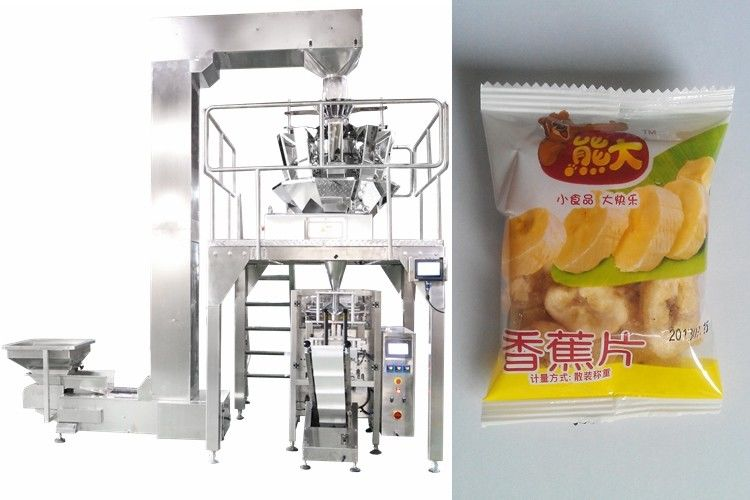 10 Heads Weigher Banana Chips Packing Machine,Made of Stainless Steel